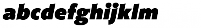 Freight Sans UPro Ultra Black Compressed Italic Font LOWERCASE