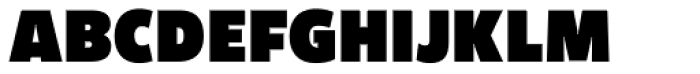 Freight Sans UPro Ultra Black Condensed  Font UPPERCASE