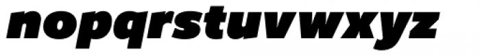 Freight Sans UPro Ultra Black Italic Font LOWERCASE
