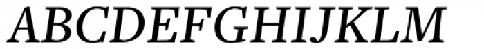 Freight Text Medium Italic SC Font UPPERCASE