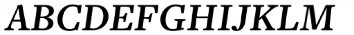 Freight Text Pro SemiBold Italic Font UPPERCASE