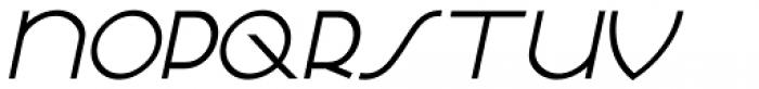 French Deco Oblique JNL Font LOWERCASE