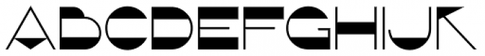 French Geometric JNL Font UPPERCASE