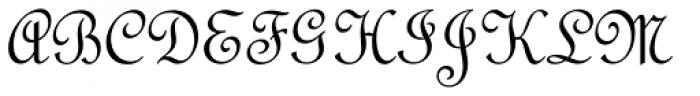French Script Pro Regular Font UPPERCASE