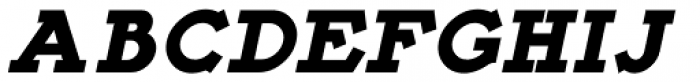 French Slab Serif Oblique JNL Font UPPERCASE