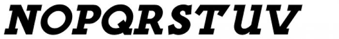 French Slab Serif Oblique JNL Font LOWERCASE