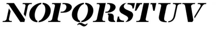French Stencil Serif JNL Obllique Font UPPERCASE