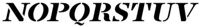 French Stencil Serif JNL Obllique Font LOWERCASE