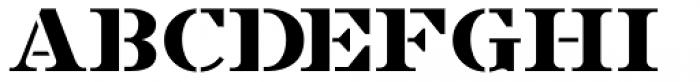 French Stencil Serif JNL Regular Font UPPERCASE