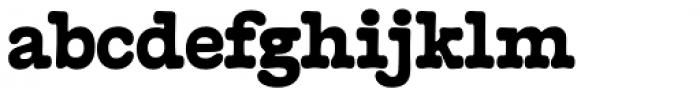 French Typewriter Black Font LOWERCASE