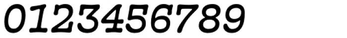 French Typewriter Medium Italic Font OTHER CHARS