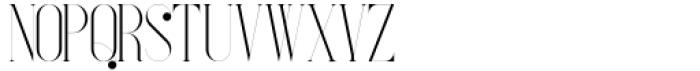 French VP Light Font LOWERCASE