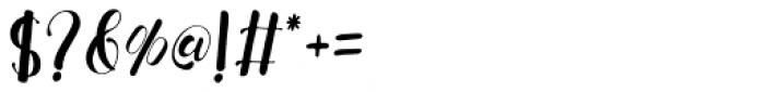 Fresh Hansler Regular Font OTHER CHARS