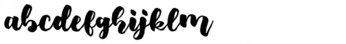 Fresh Hansler Regular Font LOWERCASE