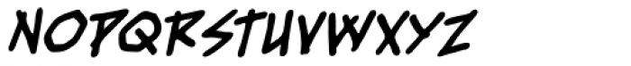 Fresh Meat BB Bold Italic Font UPPERCASE