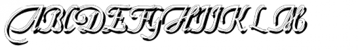 Fridha Shadow Font UPPERCASE