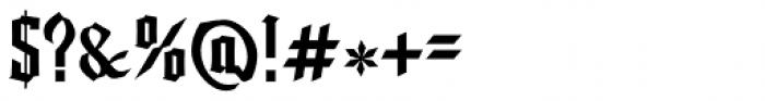 Friedrichsfeld Regular Font OTHER CHARS