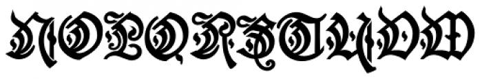 Friedrichsfeld Regular Font UPPERCASE