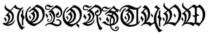 Friedrichsfeld Thin Semi Cond Font UPPERCASE