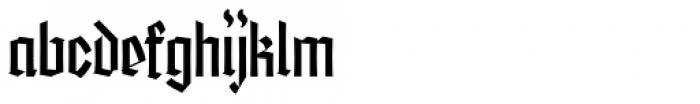 Friedrichsfeld Thin Semi Cond Font LOWERCASE