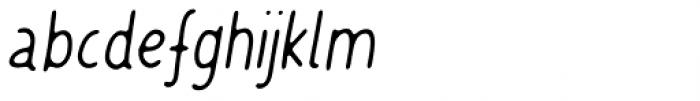 Friendly Reminder Italic Font LOWERCASE