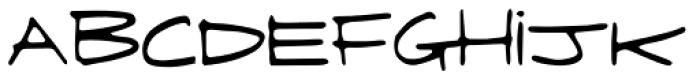 Fringe Font LOWERCASE