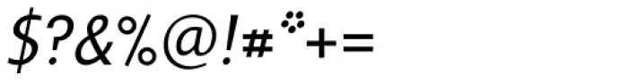 Frisans Light Italic Font OTHER CHARS
