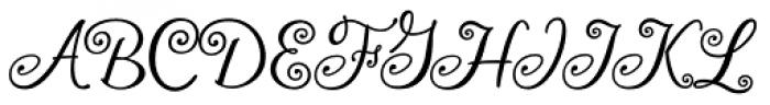 Frivolous Font UPPERCASE