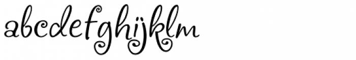 Frivolous Font LOWERCASE