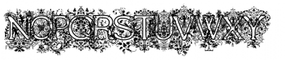 Frompac1889 Arabesque Font UPPERCASE