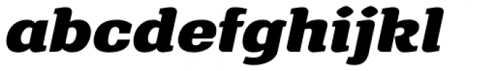 Front Page Pro-Expanded Italic Font LOWERCASE