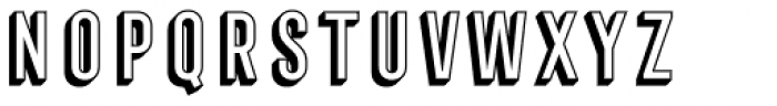 Frontage Condensed 3D Font UPPERCASE