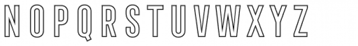 Frontage Condensed Outline Font LOWERCASE
