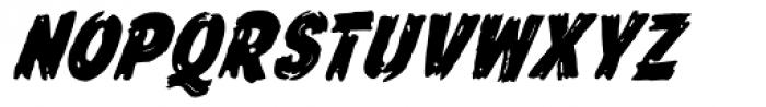 Frontline Bold Oblique Font UPPERCASE