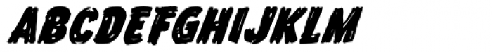 Frontline Bold Oblique Font LOWERCASE