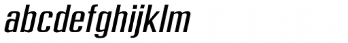 Frown Town Oblique Font LOWERCASE