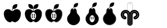 Fruits Font UPPERCASE