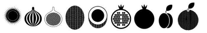 Fruits Font LOWERCASE