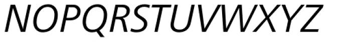 Frutiger Next Central European Italic Font UPPERCASE