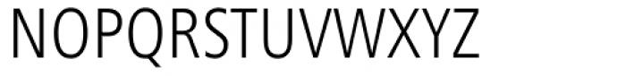 Frutiger Next Condensed Light Font UPPERCASE