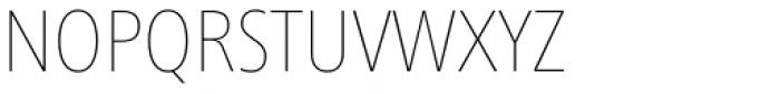 Frutiger Next Cyrillic Condensed Ultra Light Font UPPERCASE