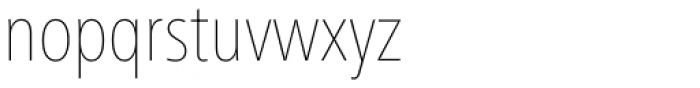 Frutiger Next Cyrillic Condensed Ultra Light Font LOWERCASE