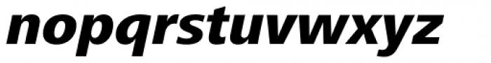 Frutiger Next Heavy Italic Font LOWERCASE