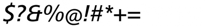 Frutiger Next Medium Italic Font OTHER CHARS