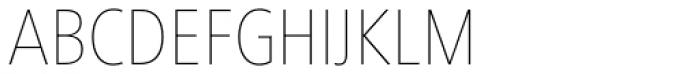 Frutiger Next Paneuropean W1G Condensed UltraLight Font UPPERCASE