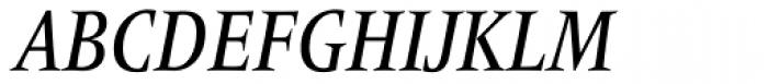 Frutiger Serif Pro Condensed Medium Italic Font UPPERCASE