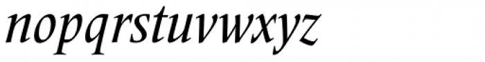 Frutiger Serif Pro Condensed Medium Italic Font LOWERCASE