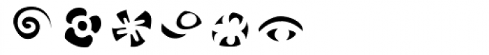 Frutiger Symbols Negative Font UPPERCASE