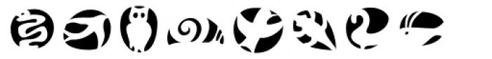 Frutiger Symbols Negative Font LOWERCASE