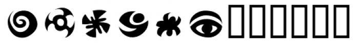Frutiger Symbols Positive Font UPPERCASE